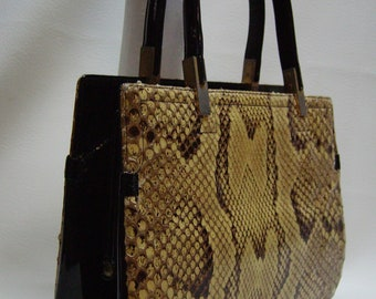 KORET 60s Python Snakeskin Handbag Purse