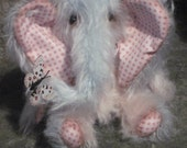 OOAK Handstitched mohair artist elephant - 'Freddy' 7.5 inches