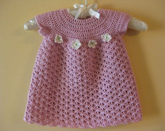 Crocheted Spring Baby Dress
