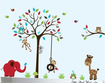 Nursery wall decals owl vinyl wall decal tree nursery wall art - 022