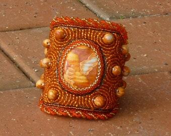 Orange Tangerine: Elegant Elements Cuff Collection