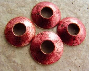 "BHB Caps, Cherry Bubbles Copper Bead Caps, 2 pair (4 caps), 15mm, 7/32"" Hole"