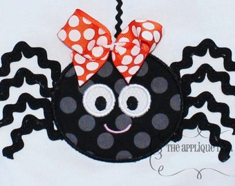 Halloween Ric rac Spider Digital Embroidery Design Machine Applique