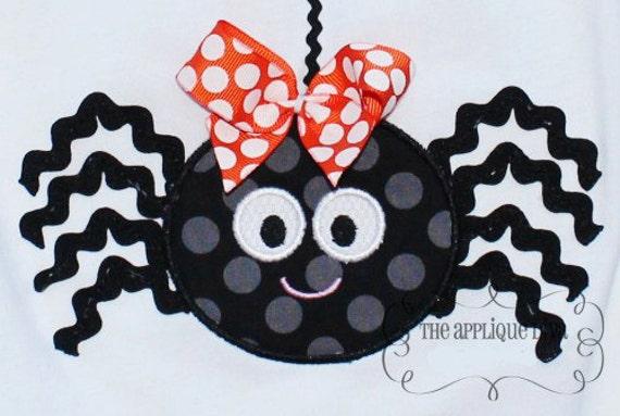 Halloween Ric rac Spider Digital Embroidery Design Machine Applique