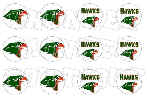harlingen texas hawks bottlecap image sheet high school