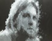 Kurt Cobain signed and titled print