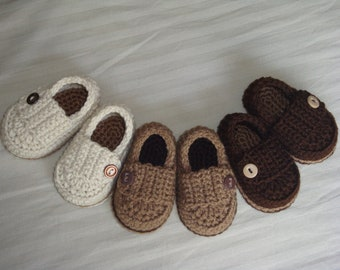 Baby Booties - Crotchet - Made To Order Shoes - Any Color Any Size