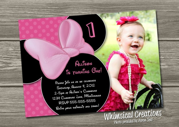 Minnie Mouse Birthday Invitation (Digital File) I Design, You Print - Includes 50% OFF coupon for Thank You card
