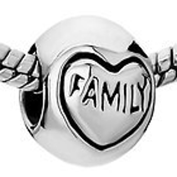 FAMILY  Silver Plated Spacer Beads Fit  European Style Charm Bracelet