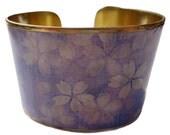 Blossom blue cuff bracelet