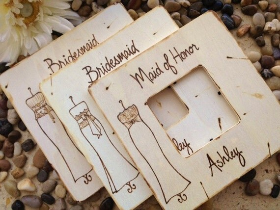 Modern Wedding Gifts: Items Similar To Bridesmaid Gifts...Set Of 3 Personalized