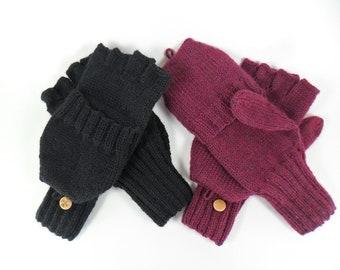 Convertible Mittens (Flip, Smoker's or Reader's Gloves)
