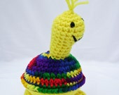 Lemonade the Turtle - Crocheted Amigurumi Yellow Stuffed Toy ready to ship