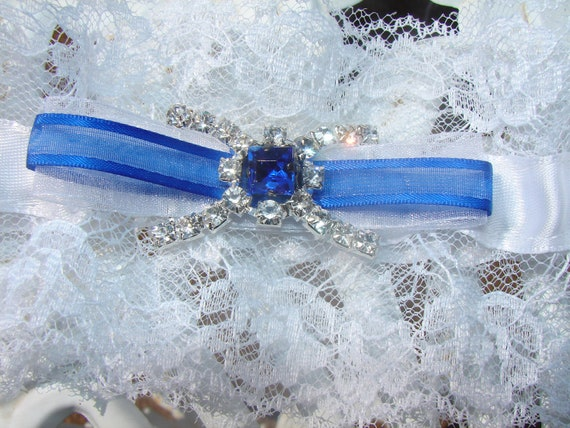 WHITE ROYAL BLUE Garters, Royal Blue Garters,Ivory Garters,Pink Garters,Purple Garters Red Garter Orange Garters Plus Size Garters
