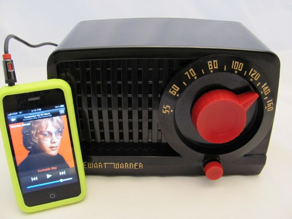Vintage Radio iPod Ready Stewart Warner AM