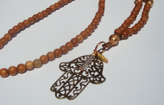 Wooden Protection Necklace