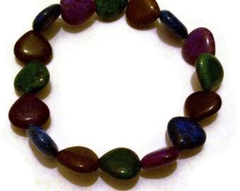 Turquoise Heart Shaped Bracelet Beads