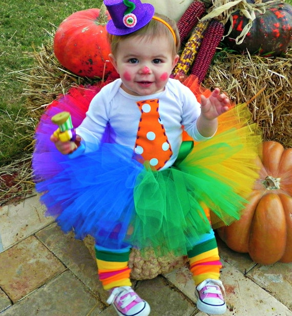 Items Similar To Tutus Clowninu0026#39; Around Tutu For Your U0026quot;little Princessu0026quot;/baby Clown Tutu ...