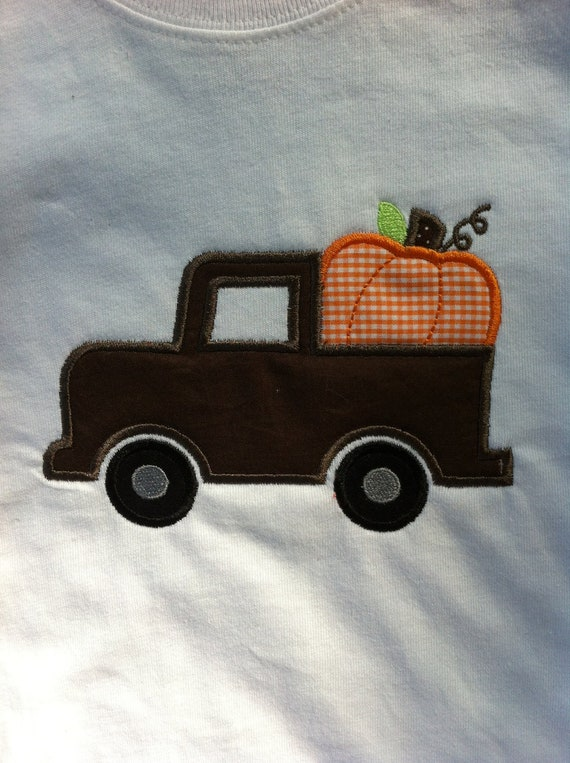 Boy Fall Shirt  - Halloween - Thanksgiving - Pumpkin Truck  - Infant or Toddler - Personalized