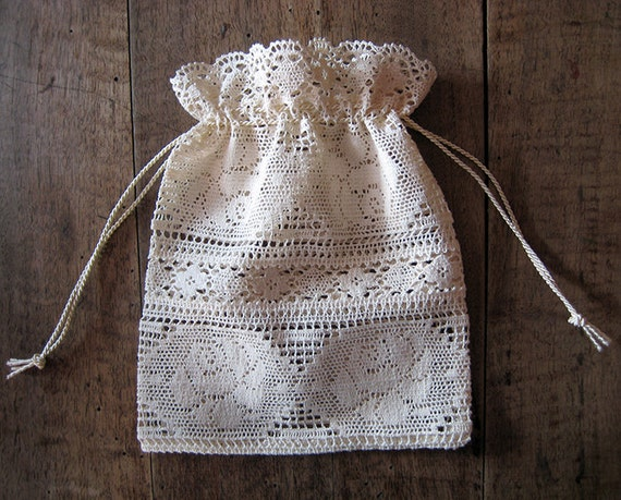 Wedding Favor Bags Lace : Bag, Lace gift bag, Wedding favor bag, Baby shower favor bag ...