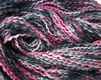 Handspun Yarn Hand-dyed Organic Vegan Textured Cotton