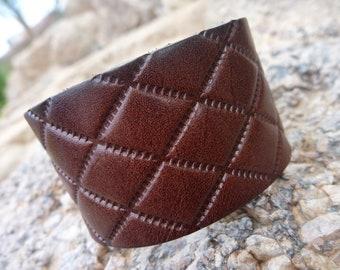 Leather Bracelet.Brown Leather Bangle/Cuff Bracelet . Unisex