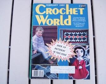 Vintage CROCHET WORLD February1985.