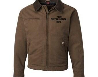 Custom Embroidered Canvas Jacket