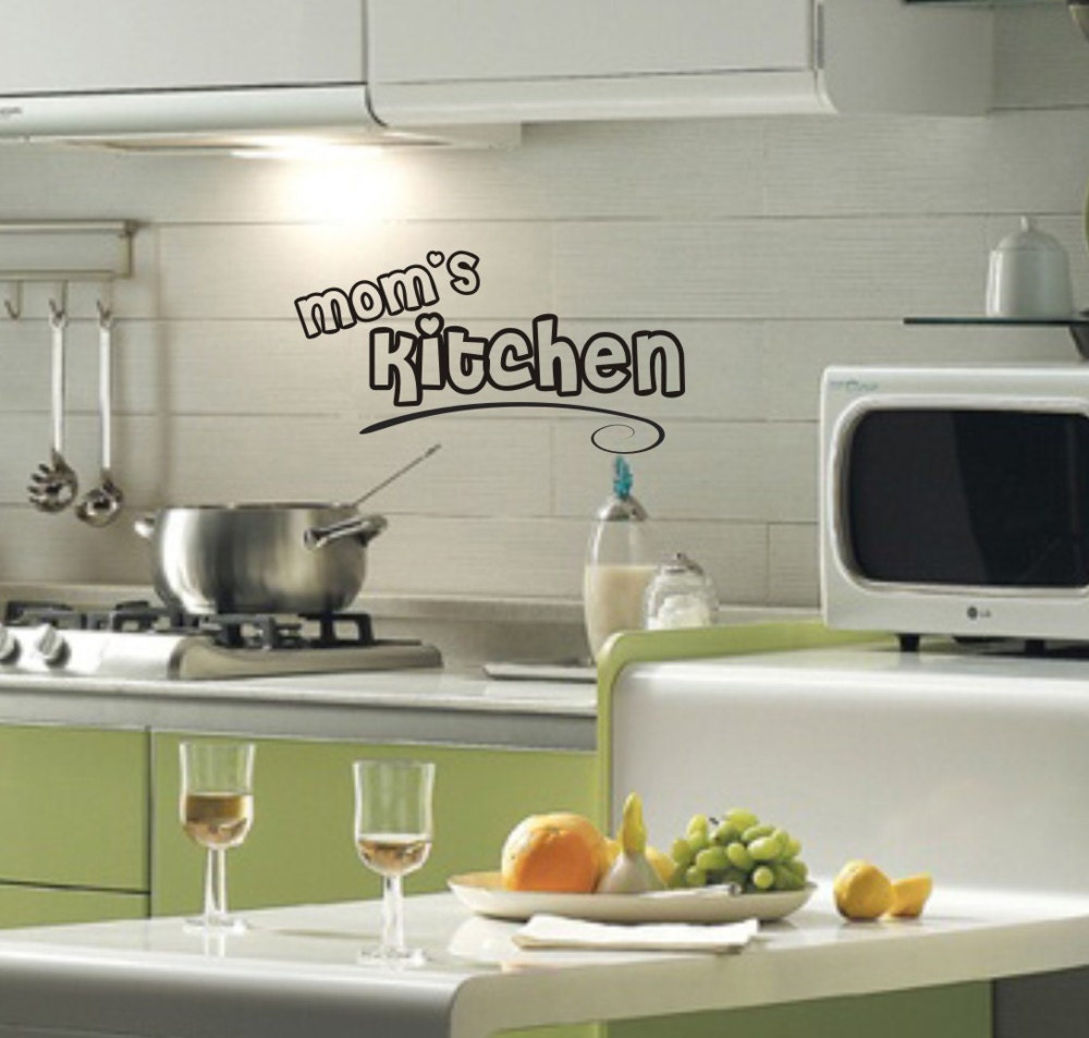 Mommas Kitchen: Mom's Kitchen Wall Decal Removable Sticker