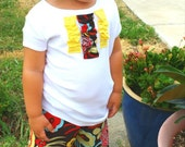 Girl Ruffle Pant and T-shirt Outfit Mocca Flowers Yellow sizes 9 mon - 5T