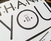 Thank You Cards - From US - 6 pack of letterpress cards