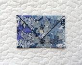 Petite ENVELOPPE passeport Mauvey - Tissu Liberty