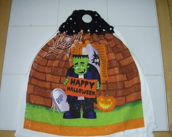 Frankenstein Crocheted Hanging Dish Towel (Double)
