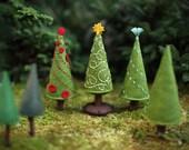 Christmas Tree PDF pattern, holiday tree pattern, felt Christmaas tree, plush trees, beginner sewing, tree ornament