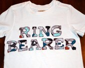 Ring Bearer T-Shirt or Onesie Customized to Coordinate with Your Special Day Custom Order for Katherine