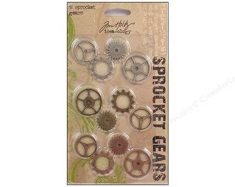 Sprocket Gears, Tim Holtz, Ideaology, embellishment, scrapbooking, steampunk