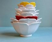 Nesting Lotus Bowls - Set of 8
