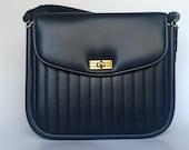 1950's Navy Blue VIntage Handbag