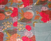 tropical handmade Kantha Quilt throw