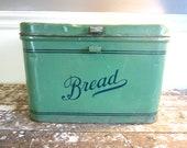 Vintage Breadbox 1940s Empeco Green Breadbox Rustic Decor