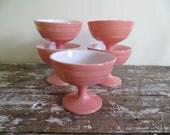 Hazel Atlas Parfait Cups Pink Kitchen Vintage Kitchen