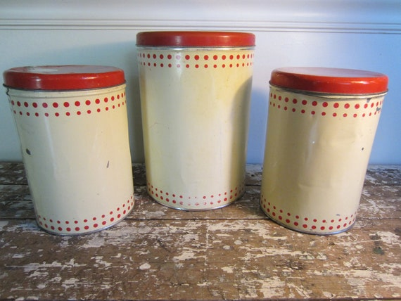 Farmhouse Nash's Coffee Canisters Metal Canisters Kitchen Storage Rustic Decor Shabby Chic