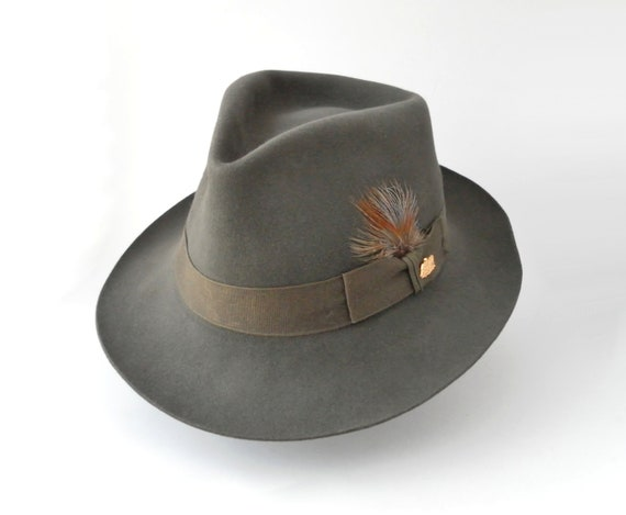 "Vintage Stetson Fedora Hat ""The Sovereign"" Chatham Unisex"