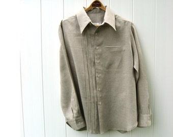 Natural Linen Mens Shirt Custom and Handmade for You