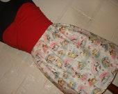 Cat Lady Skirt Smitten Kitten Mini Skirt - High Waisted Ladies Cute Cat Print Mini Skirt -  Handmade & Ready to Ship
