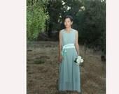 Spring mint Dress  green chiffon dress summer dress/wedding dress/bridesmaid dress   (FM162)