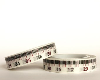 White Tape Measure Washi Tape