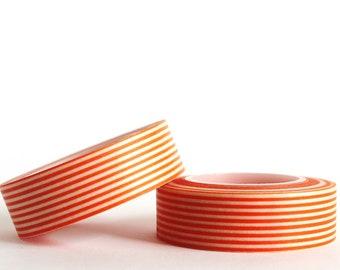 Orange Striped Washi Tape