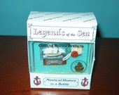 Mini Ship in a Bottle Historic YACHT AMERICA New OLD Stock from Art Store 90s