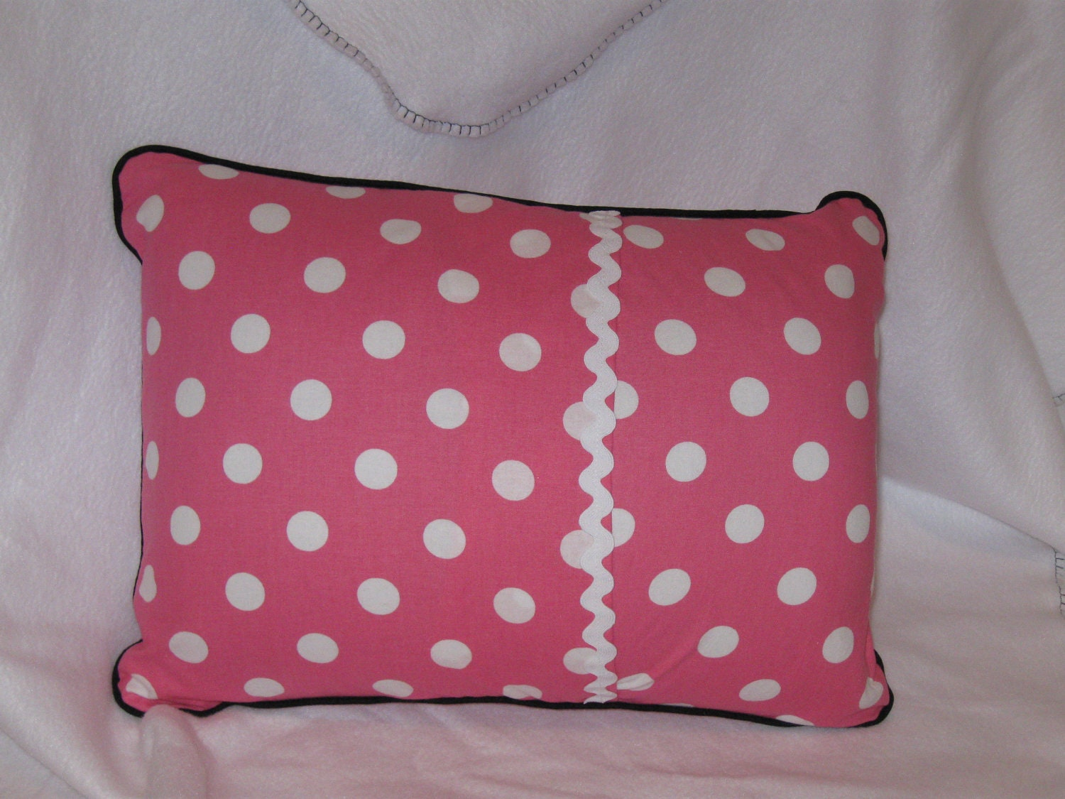 Minnie Throw And Pillow Set : Minnie Mouse Travel Pillow Case or Throw Pillow Pink & White